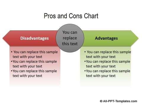 PowerPoint Comparisons Templates Showing Opposite Directions Page 2 – Comparison Chart Template