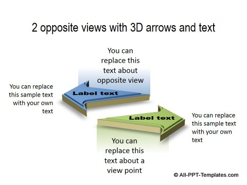 PowerPoint Opposite Directions Template 09