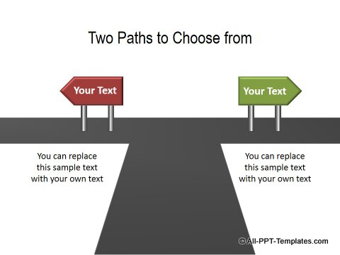 PowerPoint Opposite Directions Template 11