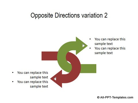 PowerPoint Opposite Directions Template 15