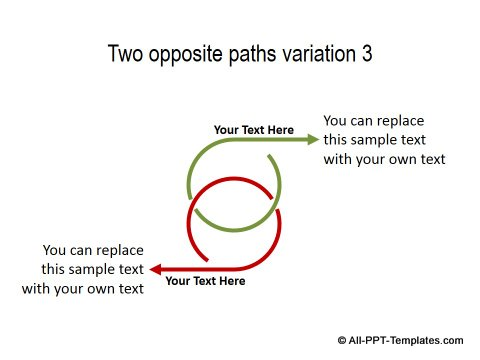 PowerPoint Opposite Directions Template 16