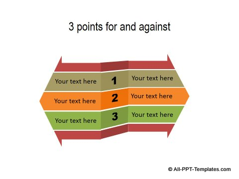 PowerPoint Opposite Directions Template 25