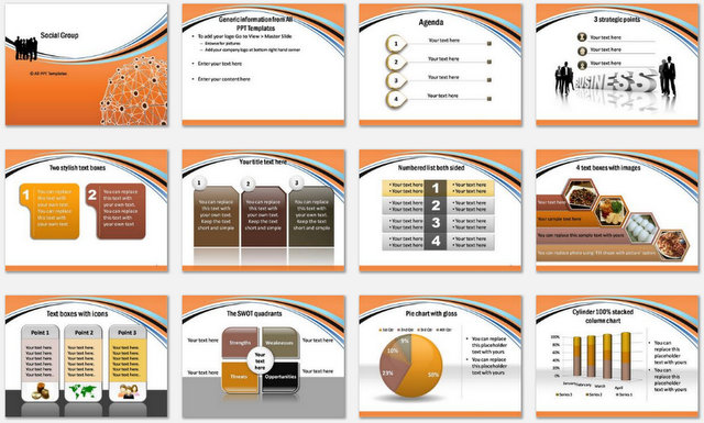 PowerPoint Social Charts 1