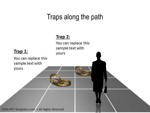 People Facing Traps Concept