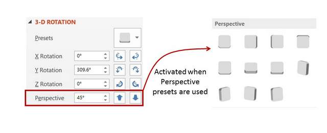 PowerPoint Perspective Angle