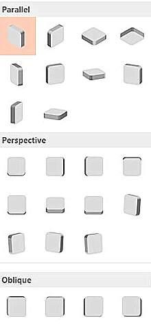 PowerPoint perspective menu