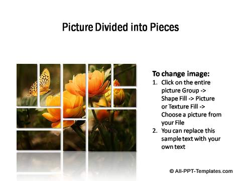 PowerPoint Picture Showcase as Puzzle Piece