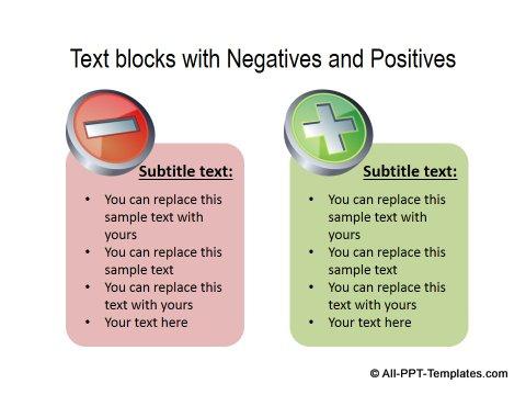 PowerPoint Positive Negative Comparisons 18