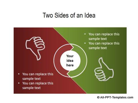 PowerPoint Positive Negative Comparisons 20