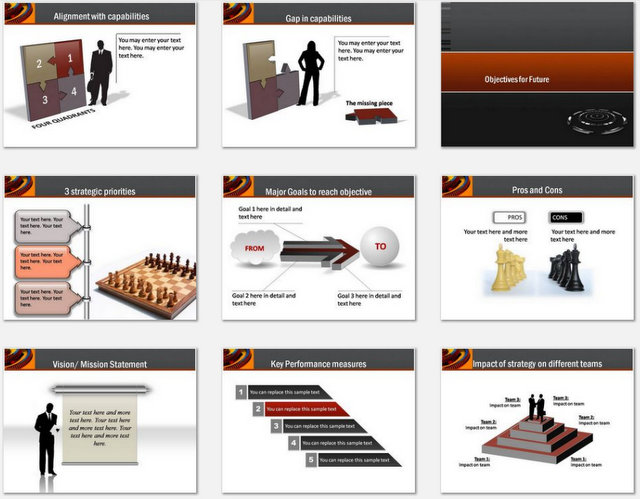 PowerPoint Process Strategy Charts 02