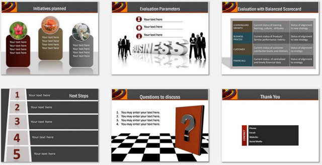 PowerPoint Process Strategy Charts 03