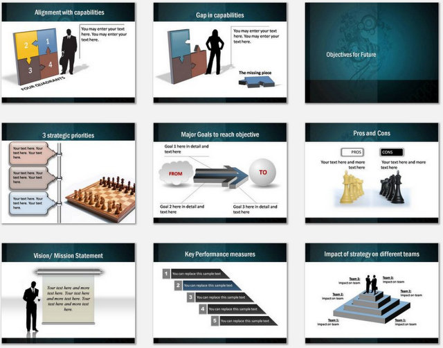 PowerPoint Professional Strategy  Charts 02
