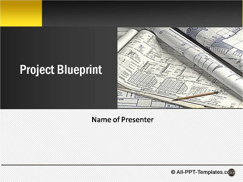 Powerpoint project blueprint template pptx project blueprint title slide malvernweather Choice Image