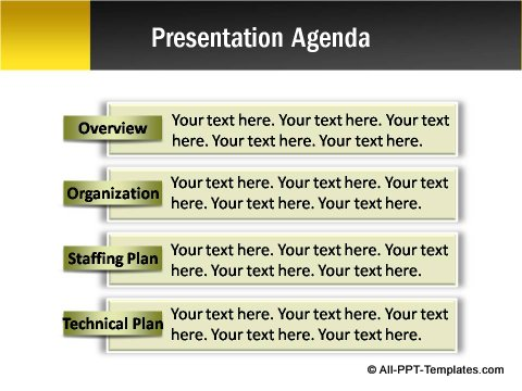 Pptx Project Blueprint  Presentation Agenda