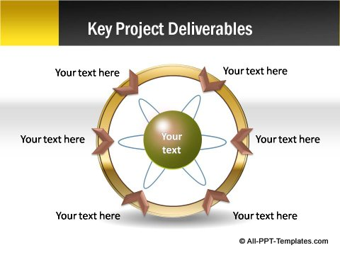 Pptx Project Blueprint Circular Arrow Chart