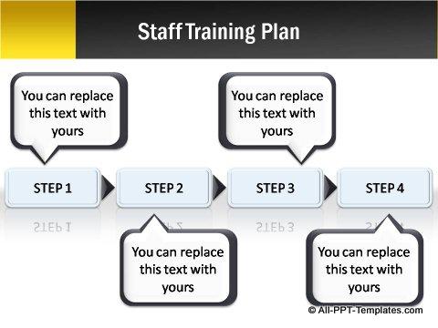Pptx Project Blueprint Step Chart