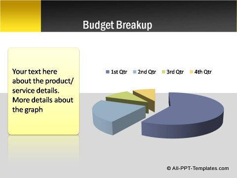 Pptx Project Blueprint Pie Chart