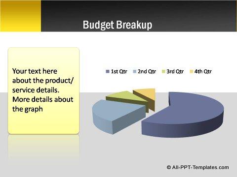 Pptx Project Blueprint Pie Chart