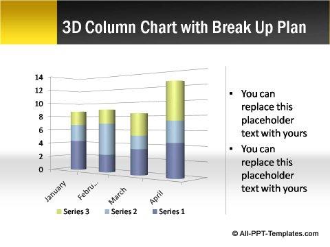 Pptx Project Blueprint  column chart