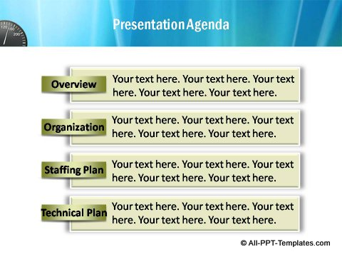 Pptx Project Speed Report  Presentation Agenda