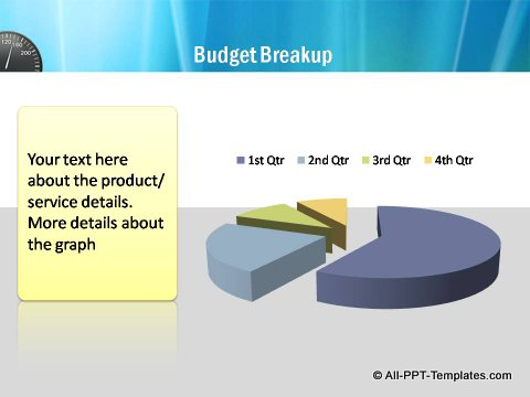 Pptx Project Speed Report Pie Chart