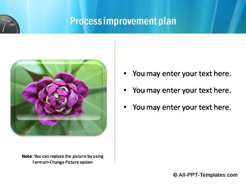 Pptx Project Speed Report slide text