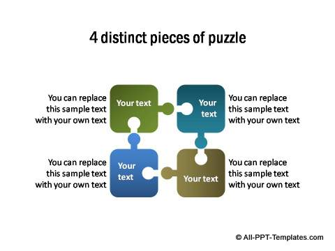 4 Pieces Of Puzzle PowerPoint 10