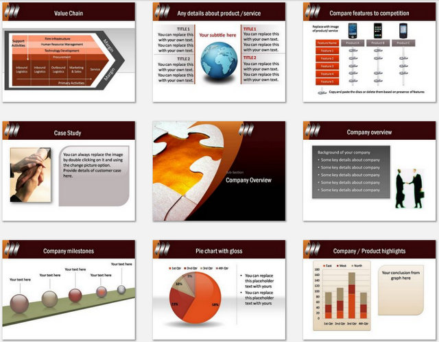 PowerPoint Puzzle Piece  Charts 02