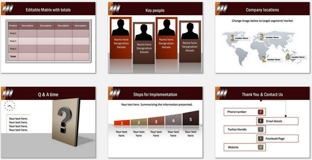 PowerPoint Puzzle Piece Charts 03