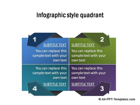 powerpoint quadrant template : page 1, Modern powerpoint