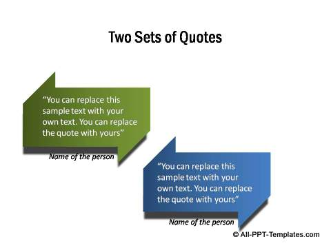 2 sets of quotes