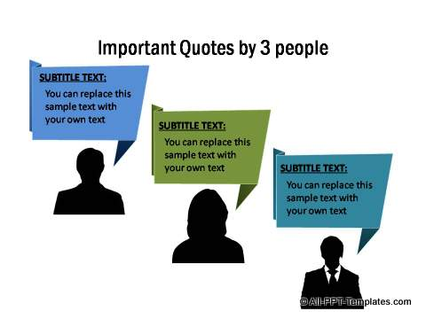 Important quotes by 3 people