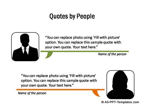 Powerpoint callout templates detailed quotes made by 2 different people toneelgroepblik Choice Image