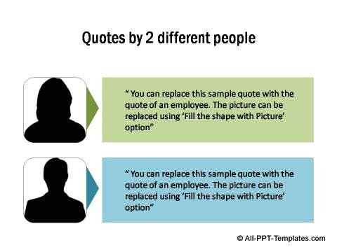 Powerpoint callout templates 2 quotes with images toneelgroepblik Images