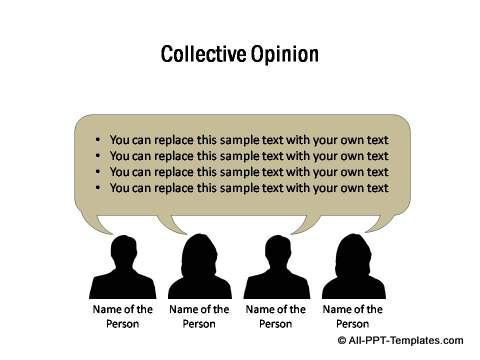 Collective opinion template