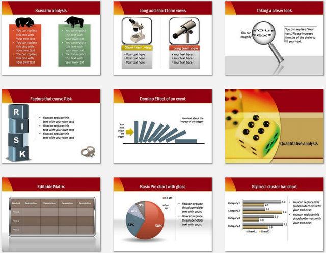 PowerPoint Risk Audit Charts 2
