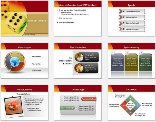 PowerPoint  Risk Audit Charts 1