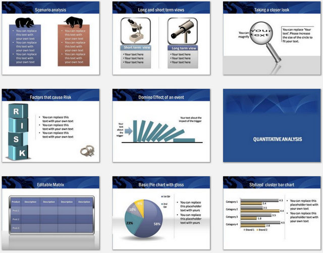 PowerPoint Risk Environment Charts 2