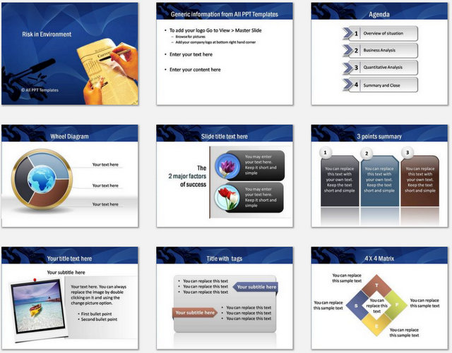 PowerPoint  Risk Environment Charts 1