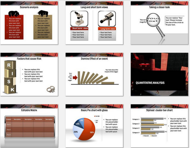 PowerPoint Risk Financial Analysis Template – Financial Analysis Template