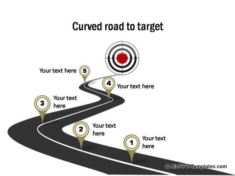 how to draw a curved road in powerpoint
