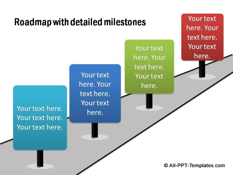 Powerpoint roadmap with milestones for Milestone chart templates powerpoint