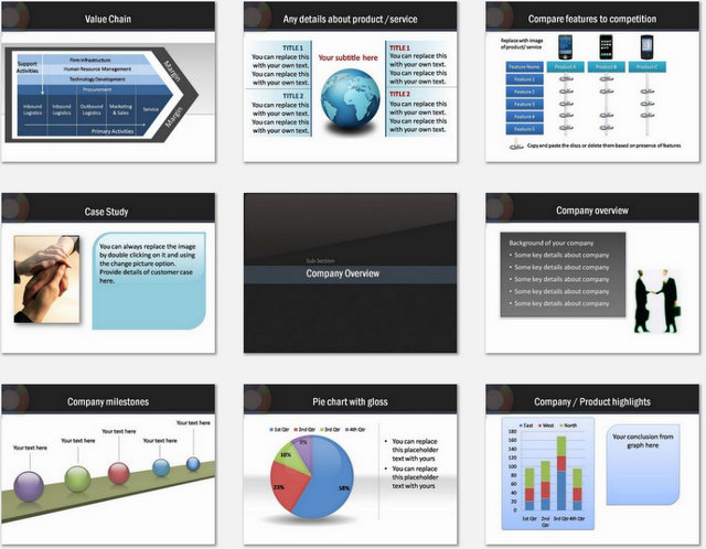 PowerPoint Sales Data Charts 02