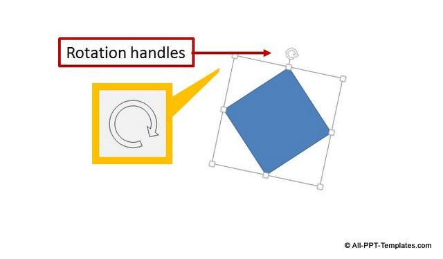 PowerPoint Rotation Handles