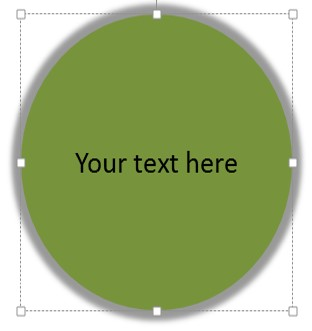 PowerPoint Shape with Text
