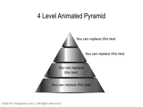 PowerPoint Pyramid with Gradient