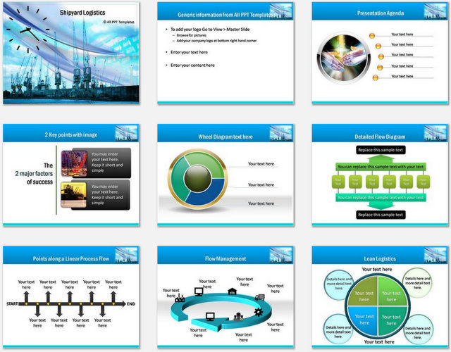 PowerPoint Shipyard Logistics Charts 01