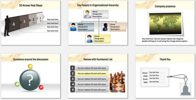 PowerPoint Smoky Intro Charts 3