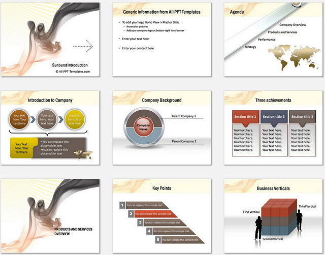 PowerPoint Smoky Intro Charts 1