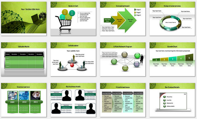 Powerpoint social network template powerpoint social network charts 2 toneelgroepblik Image collections